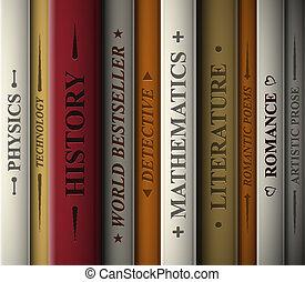 libros, de, vario, genres