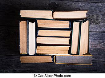 libros, en, el, biblioteca
