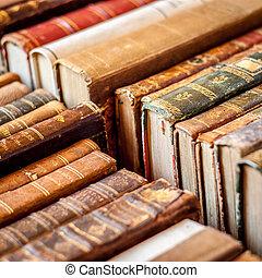 libros, fondo., viejo, manuscripts.