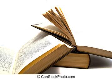 libros, primer plano
