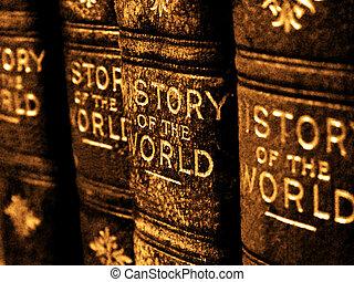 libros viejos, en, el, historia, de, el mundo