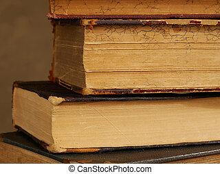 libros viejos, primer plano