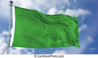 Libya Flag in a Blue Sky. Use this clip loud and proud to...