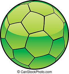 Libya flag on soccer ball