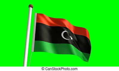 Libya flag (seamless & green screen)