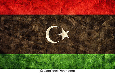Libya grunge flag. Item from my vintage, retro flags collection