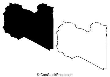 Libya map vector
