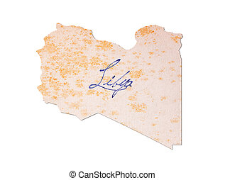 Libya - Old paper with handwriting