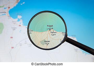 libya., politico, map., tripoli