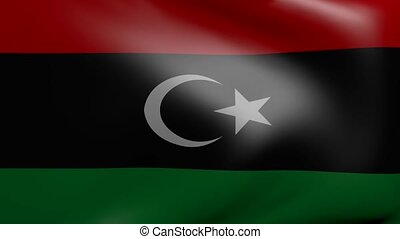 libya strong wind flag