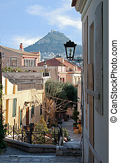 Licavitos hill from Athens old city - A road to the old city...
