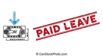licença, ícone, renda, colagem, pago, pathogen, notas, selo, traço, textured, linhas
