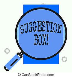 licença, aproximadamente, box., recipiente, texto, mostrando, comments, sinal, something., lata, sugestão, foto, conceitual
