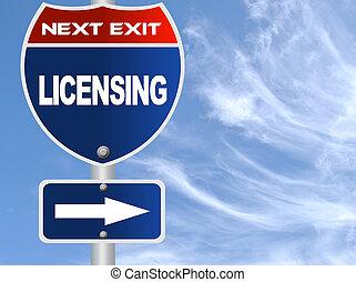 licenciamento, sinal estrada