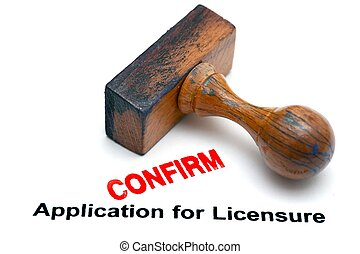 License application confirm