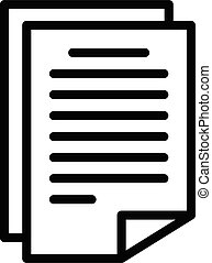 License papers icon, outline style - License papers icon. ...
