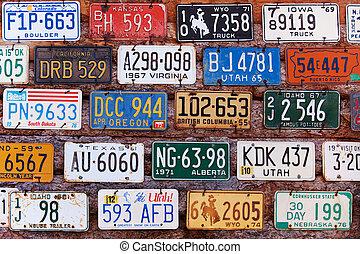 License plates - UTAH, UNITED STATES - NOVEMBER 16, 2008 ...