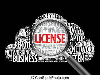 LICENSE word cloud