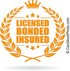 Licensed bonded insured business icon - Licensed bonded...