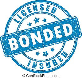Licensed bonded insured rubber vector stamp