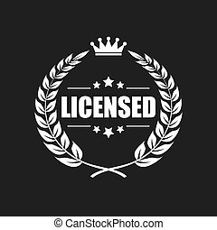 Licensed product vector icon
