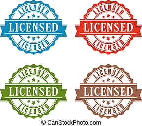 Licensed rubber stamp