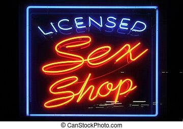 Licensed Sex Shop Sign