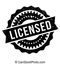 Licensed stamp. Grunge design with dust scratches. Effects ...