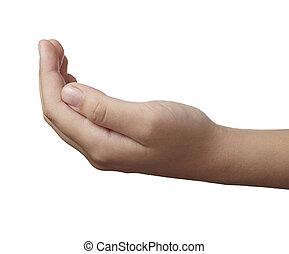 lichaam, gebaar, taal, hand