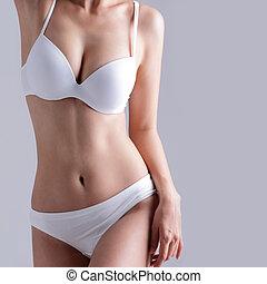lichaam, sexy, vrouw