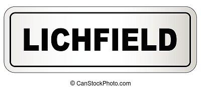 Lichfield City Nameplate - The city of Lichfield nameplate...