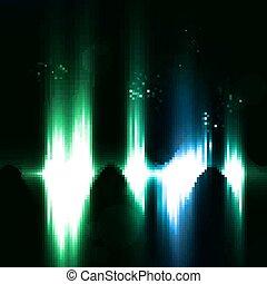 licht, abstract, achtergrond