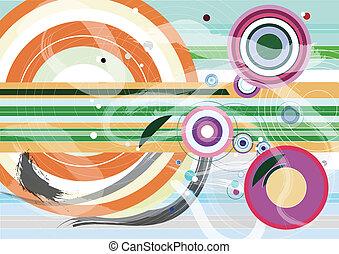 licht, abstract, flits, achtergrond