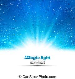 licht, abstract, magisch, achtergrond.
