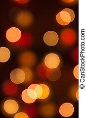 Licht, Abstrakt, Fokus, Lichter, hintergrund, während, Nacht, heraus