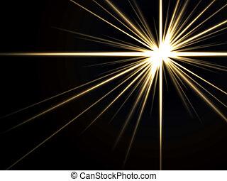 licht, abstrakt, strahlen
