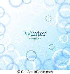 licht, abstrakt, winter, hintergrund