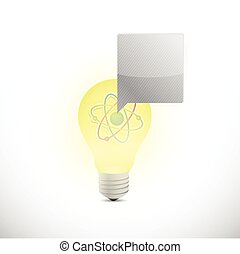 licht, atom, design, abbildung, zwiebel