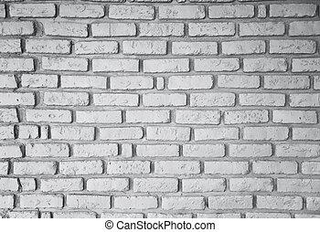 licht, baksteen muur, als, een, bouwsector, achtergrond
