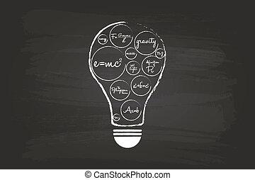 licht, begriff, idee, zwiebel