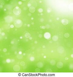 licht, bokeh, grüner hintergrund