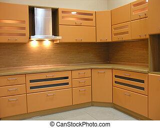 licht bruin, keuken
