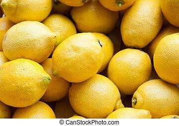 licht, citroenen