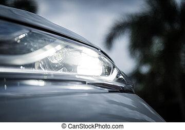 licht, closeup, auto