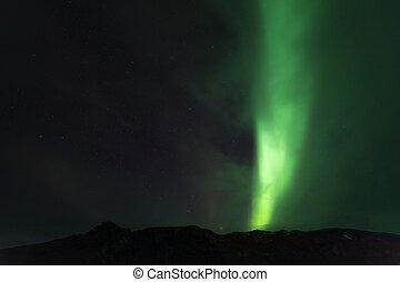 licht, dageraad, noordelijk, borealis