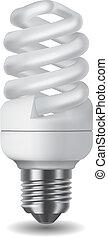 licht, energie, besparing, bol