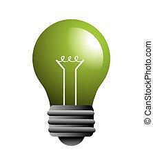 licht, energie, ontwerp, bol