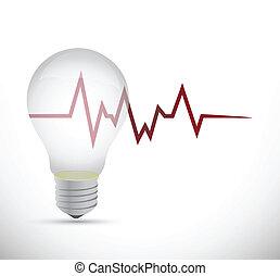 licht, energie, ontwerp, illustratie, bol