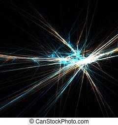 licht, fonkelend, stralen