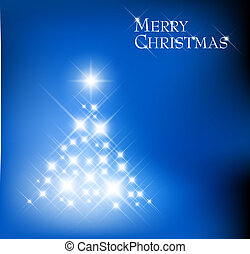 licht, gemaakt, boompje, kerstmis